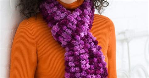 doodle scarf pattern 2 ball scarf red heart free pattern easy knit 2