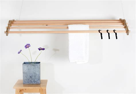 Hanging Laundry Rack by Woodi Clothes Drying Rack Design Milk