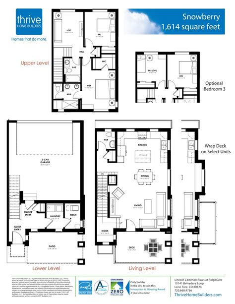 retail layouts thrive on the notion that snowberry home plan by thrive home builders in rows at