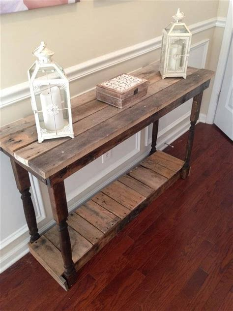 Hallway Entry Table Diy Pallet Foyer Table Pallet Furniture Diy