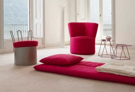 comfy chair cushions change into a bedroll floor pillow