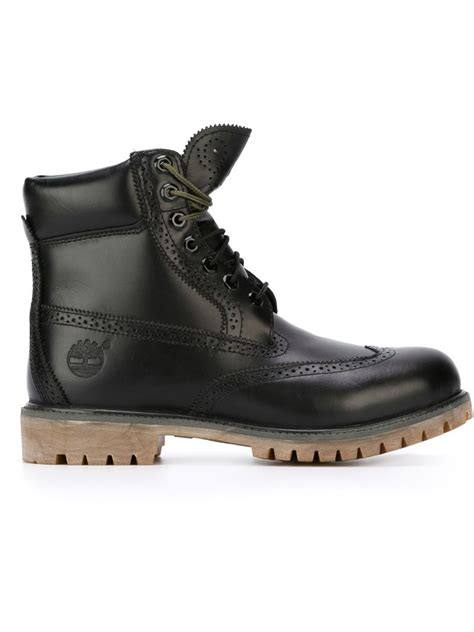 Timberland Low Boots Ful Ring 2 timberland brogue detail boots in black for lyst