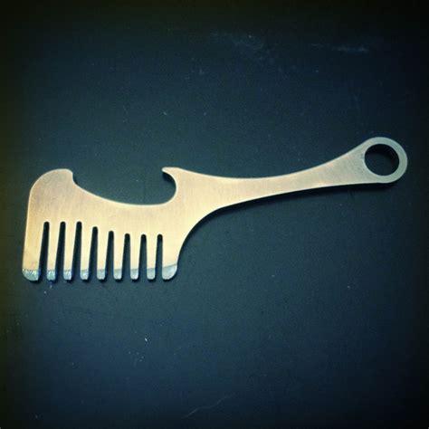 beard combs beard mustache comb bottle opener old familiar comb company