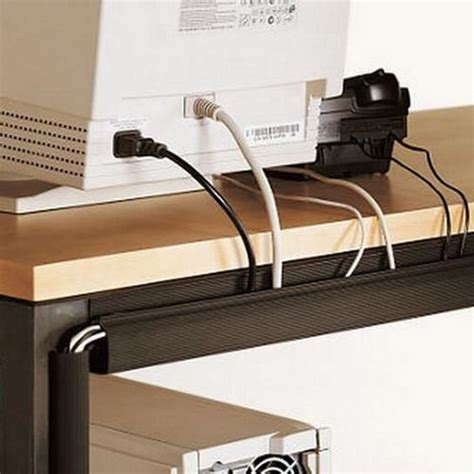 desk cable management ideas modern cable organizers offering convenient and practical