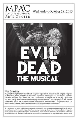 evil dead center a mystery books program book insert evil dead by mayo performing arts