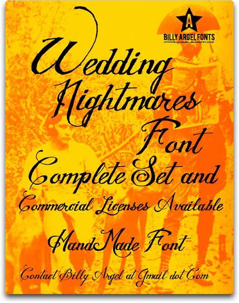 dafont wedding wedding nightmares font dafont com