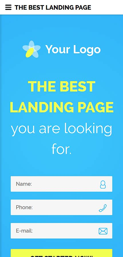 Business Landing Page Template Website Templates Business Landing Page Template