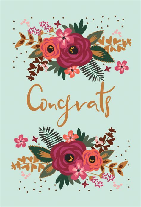 Floral Congrats   Baby Shower & New Baby Card   Greetings