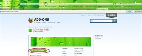 firefox themes rain a theme rain effect on firefox web page techyv com