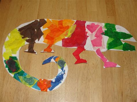 reptile crafts for movin on up the mixed up chameleon teaching ideas