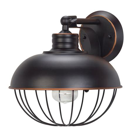 oil l wall sconce globe electric elior 1 light oil rubbed bronze caged wall