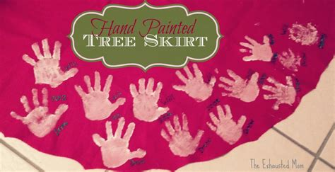 handprint tree skirt themed crafts activities for