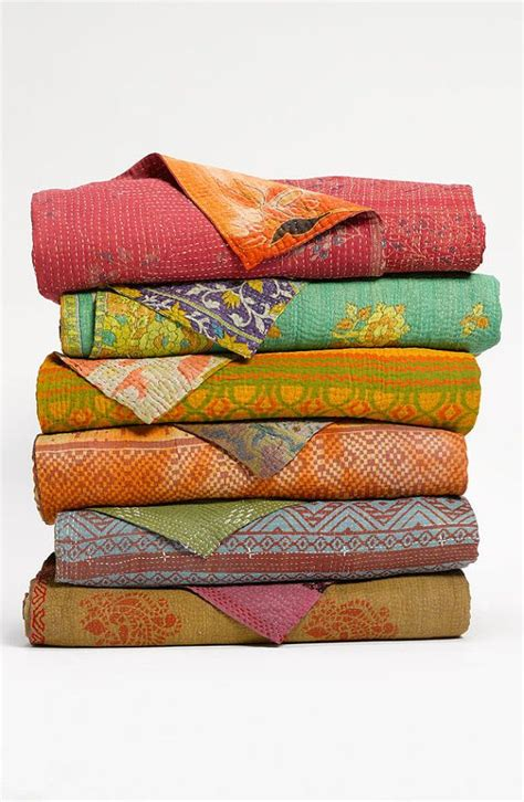 Cheap Quilted Throws by Wholesale Set Of 5 Kantha Quilt Sari Indian Quilt