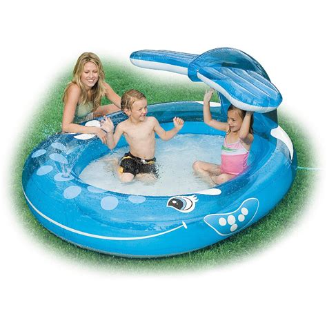 backyard blow up pools intex inflatable whale spray pool outdoor pools
