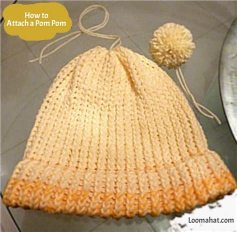 how to attach a pom pom to a knitted hat how to attach a pom pom loomahat