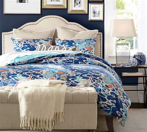 pottery barn upholstered bed fallon upholstered bed headboard pottery barn