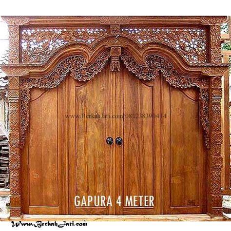 Kusen Pintu Model Gebyog Antik Jati Jepara jual pintu ukir gebyok terbaru 4 meter berkah jati