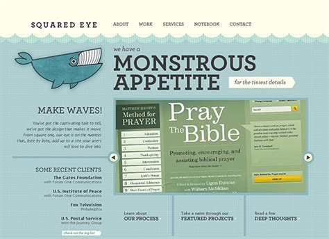 eye pattern website showcase of cartoon style web designs noupe