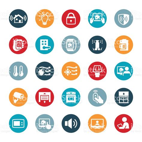 home automation icons stock vector 642063030 istock