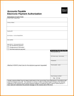 14 Ach Payment Authorization Form Secure Paystub Ach Vendor Payment Form Template