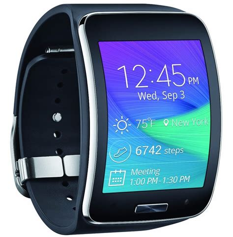samsung galaxy gear s curved smart charcoal black verizon sm r750vzkavzw ebay