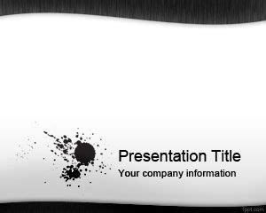 black and white powerpoint templates black ink powerpoint template ppt template