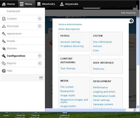 design menu bar in bootstrap interesting solution combining admin menu and mobile
