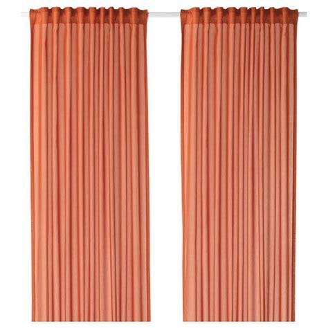 Orange Curtains Ikea Ikea Vivan Curtains Drapes Orange 2 Panels 98 Quot Length