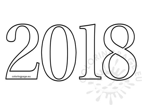 new year 2018 animal and color 2018 number coloring sheets for coloring page