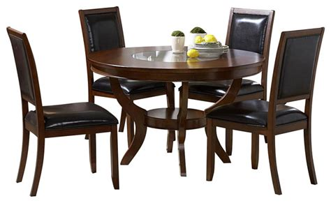 homelegance avalon 48 inch dining table in cherry