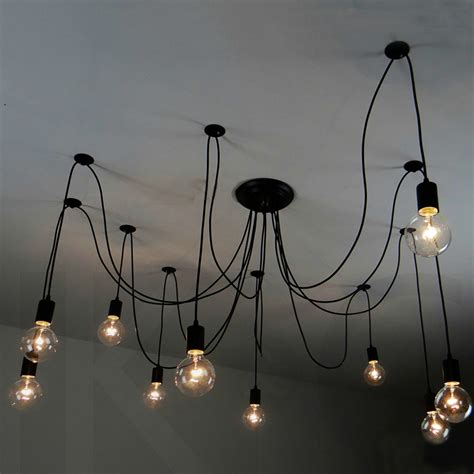 Creative Hanging Lights Vintage Pendant Ls Loft Retro Edison Bulbs Hanging Lights Creative Spider Lighting Fixture