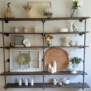 Industrial Decor Diy Diy Industrial Pipe Shelves Step By Step Tutorial On
