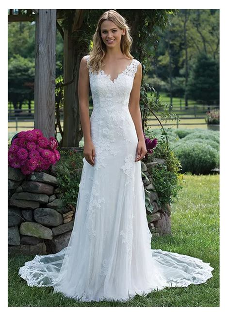 elegant lace wedding dress vestidos de novia  simple
