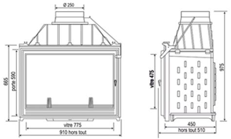 les radiantes camini inserto per camini in ghisa con vetro panoramico 9