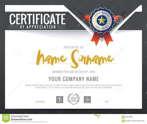 modern certificate triangle background frame design stock