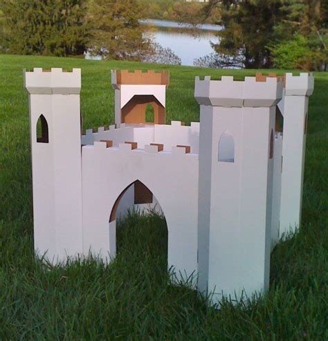 cardboard castle playhouse plans woodworking projects