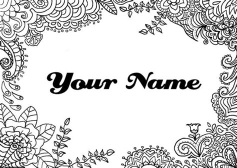 printable coloring pages with your name printable coloring pages that say your name printable