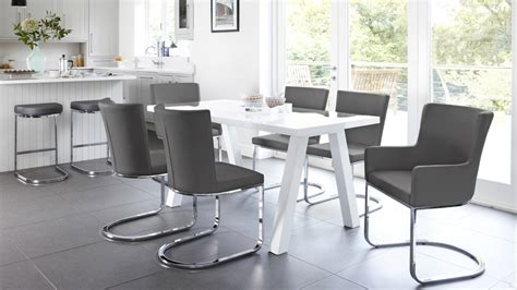 white dining table for 6 modern 6 seater white gloss dining table set uk