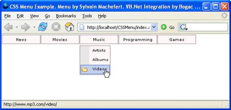 design menu vb net very compatible dhtml menu asp net user control codeproject