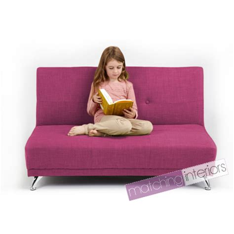 kids bed settee fuchsia pink clic clac children s kids 2 seater settee