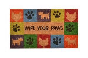 Wipe Your Paws Doormat No Trax Wipe Your Paws Coir Doormat Animal Lovers S