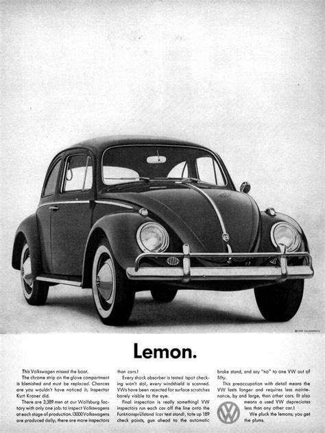 volkswagen lemon from joy ride to safety first car ads over the past 50