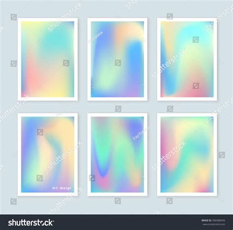 Gift Card Covers - bright holographic backgrounds set for a different design you can use a gift card