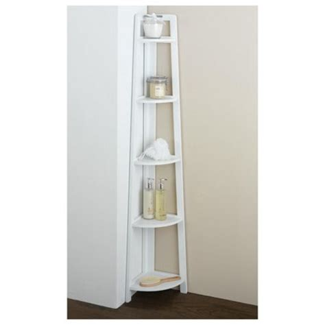 white bathroom corner unit buy sheringham white wood 5 tier corner shelving unit from
