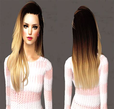 sims 3 cc hair color more ombre hair always sims