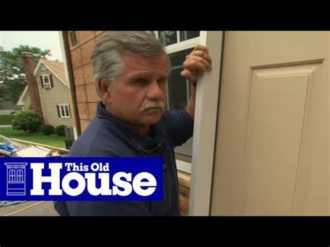install  fiberglass entry door   house