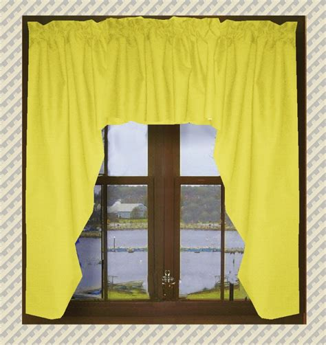 yellow swag curtains solid bright yellow swag window valance