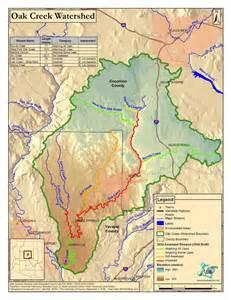 oak creek watershed map sedona arizona usa mappery