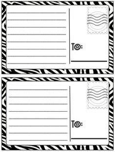 great paper post cards template preschool on community helpers paper plates