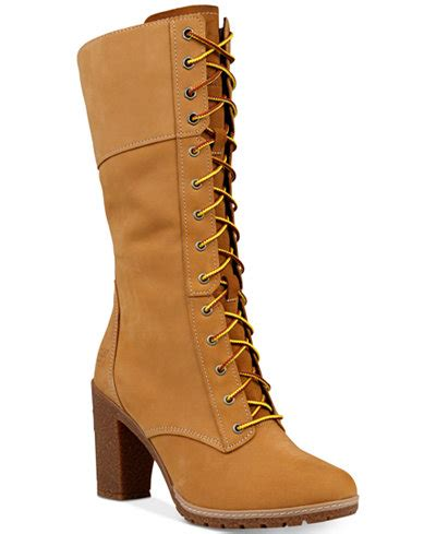 timberland s glacy lace up block heel boots boots